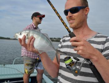 Trevally are a fish regularly encountered at this time of year.