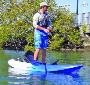 The width of the kayak allows nimble anglers to stand up and cast.