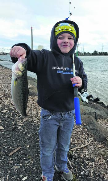 Lincoln Yeoman showing why kids love fishing!
