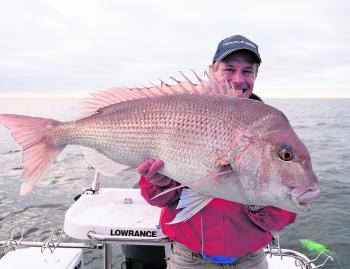 John Cahill with a sensational Port Phillip Bay snapper.