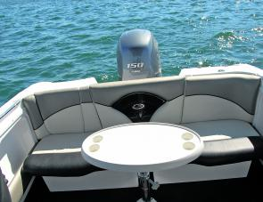 A removable lounge is an asset in a boat that can double either as a fishing boat or family cruiser.