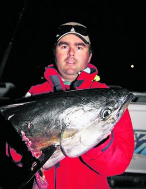 Although June marks the end of the longtail tuna season, if the water is still warm and the baitfish are still about then the tuna will be, too – and so will the sharks, as the author found out.