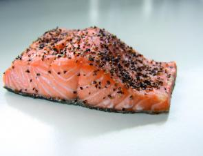 Peppered Atlantic salmon.