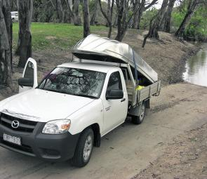 The Angler's design means it's tough but also very light and easy to lift off the back of the ute.