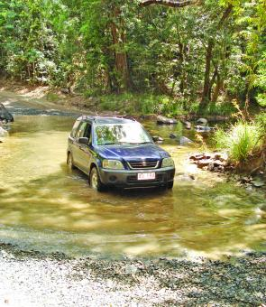 There are plenty of shallow river crossings on the coast road to Cooktown.