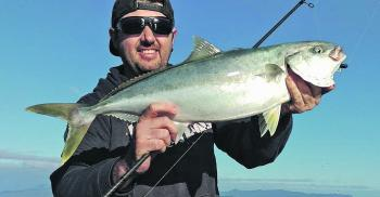 A late season kingfish caught offshore around the islands on a stickbait.