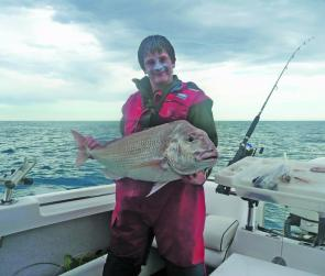 Jake Walsh caught this monster snapper offshore from Mcloughlins beach. It weighed 21lbs and is his personal best snapper.