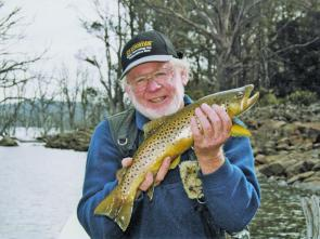 Brown trout in the mountain lakes have largely finished spawning and are hungrily searching the shallows for food.