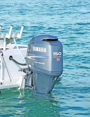 The 150hp Yamaha is perfectly matched to the 6.1 Game Fisher.
