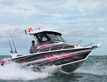 The 589 Ocean Ranger hard top will tickle the fancy of most offshore anglers.