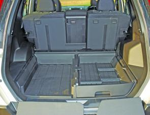 The X-Trail's massive rear cargo area can be hosed out after heavy use.