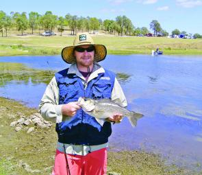 Overall winner Dave Parsons with one of his winning bass.
