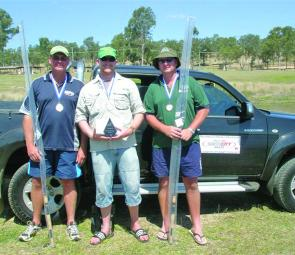 Top three winners (from left) Andrew Roff (2nd place), Dave Parsons (1st place) and Scott Prendergast (3rd place).