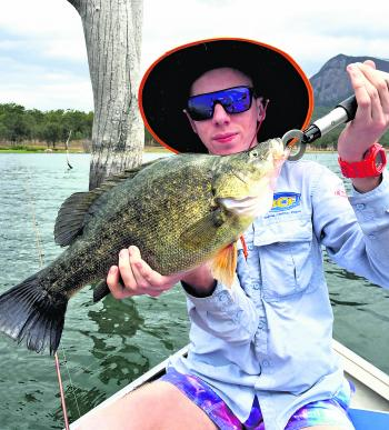 Matt Stenzel with a cracking Moogerah golden perch.
