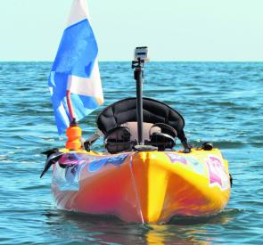 The 'diver below' flag is incredibly important – this alerts boaters to your presence underneath the kayak.
