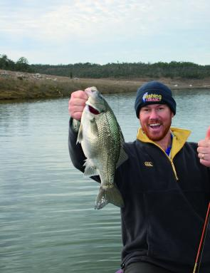 Rug up and enjoy the big winter bass on offer. This bass fell for a TN60 Jackall at Wuruma Dam.