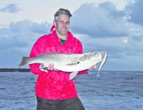 Gus Nowell with a typical school mulloway from South Wall.