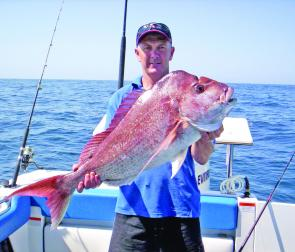 The 8.9kg snapper caught by one of Keith's clients after following a few tips. Put yourself in this picture.