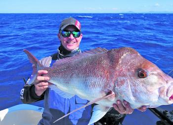Andrew Burke with a deep water snapper that was bumped out of the top by 4mm.