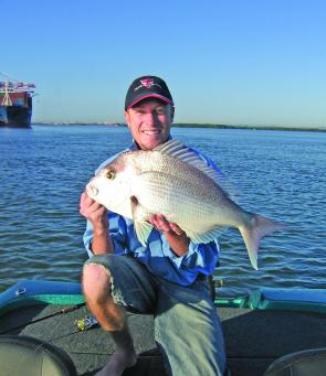 Big snapper are a favourite of soft plastic fishers in the Brisbane River and August is a great month to target them.