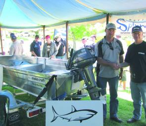 The major prize of a Makocraft boat and Yamaha outboard was won by Stephen O'Keefe from Morven.