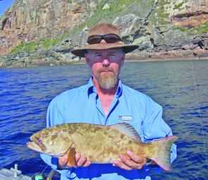 Bill Lewis caught this coral trout at the Keppels.