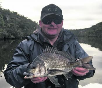Shane Lowery with a typical Glenelg River bream