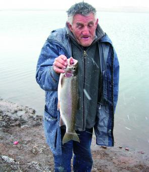 Lake Eucumbene rainbow trout caught by John Payne.