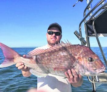 A great example of the quality snapper being taken from the deep water off the peninsula. Shane Duffy-Beel caught this beast.