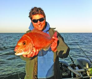 Snapper like this are plentiful offshore.