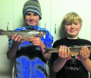 Thommo and his cousin Cody made the most of there trout trip with their Grand mother Teena where they caught seven nice trout for the day including these 2 lovely brown trout.