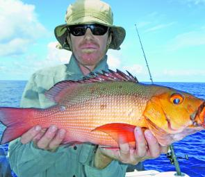 Shallow, sharp coral + popper crunching red bass = FUN.