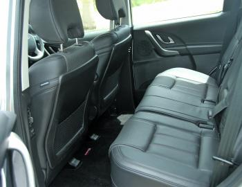 Second row passengers enjoy plenty of head and legroom in this SUV.