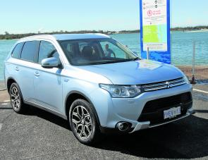 The Outlander PHEV's AWD on demand system sees the vehicle very capable around boat ramps.