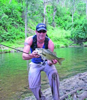 There are plenty of shore-based options; it's all a matter of how adventurous you want to be. This solid bass come from Five Day Creek, east of the lodge.