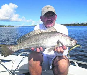 To target mulloway during the day you need a tide change, bait and structure.
