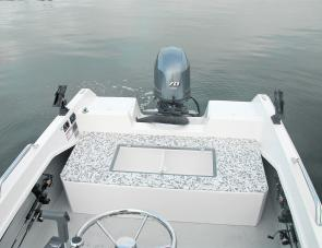 The aft fish well is a useful addition. It doubles as a seat, with casting deck capability as well.