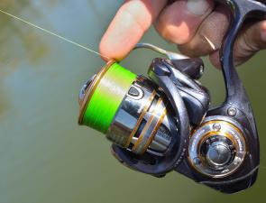 The index finger can be used on the lip of a threadline spool to help control accuracy, much like the thumb on a baitcaster spool. The more you practise casting, the better you'll get, regardless of which type of reel you use.