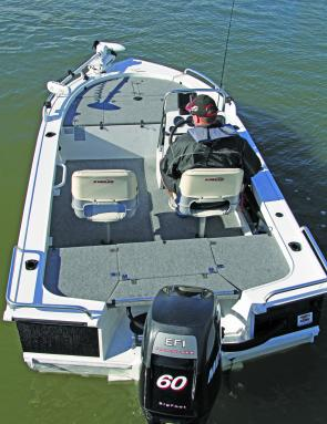 The forward and rear casting decks allow for plenty of room for the serious angler.