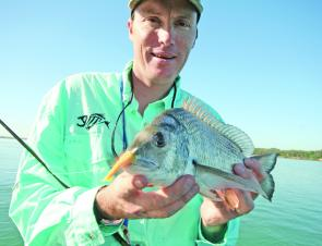 Snapper like this knobby are still viable targets on the inshore reefs in September.