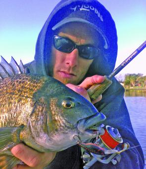 Mitch Chapman from Tackleworld Cranbourne with a nice Patterson River bream.