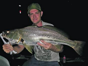 Kane Rosell with a solid mulloway caught at Boyds Bay Bridge.