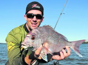 Anglers have had very successful snapper outings this winter using soft plastics.