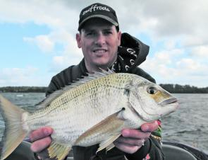 Frogley's Offshore pro staffer and 2012 Sussex Inlet Bream Classic winner Nick 'The Doctor' Reay with trophy Basin bream.