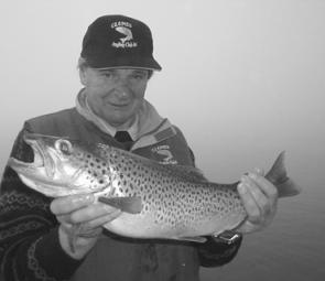 Darcy Butcher nailed this beautiful 3kg brown on Lake Jindabyne one misty morning before the sun broke through.