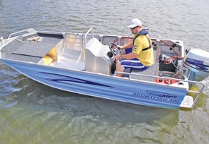 The Seacraft Sportfish 400 is light, manoeuvrable and capable of taking two anglers to their favourite fishing destination.
