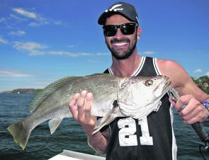School mulloway have been around in good numbers.