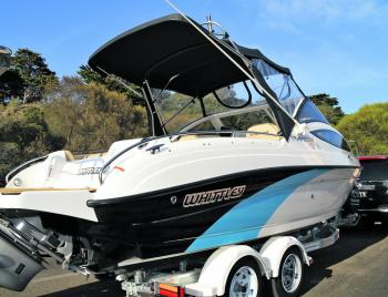 The Whittley FF2100 turns heads at boat ramps and on the water.