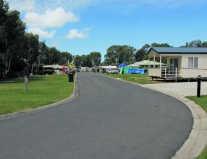 Toorbul is a small caravan park by some standards but there's ample room inside.