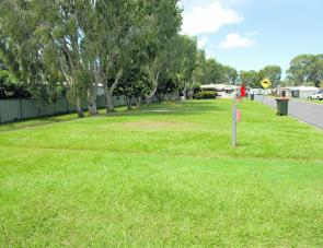 Like to set up camp on the grass? There's plenty at this caravan park.